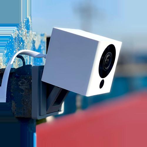 IPカメラで施工状況をリアルタイムチェック